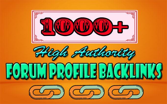 I will create 1000 high authority forum profile dofollow backlinks