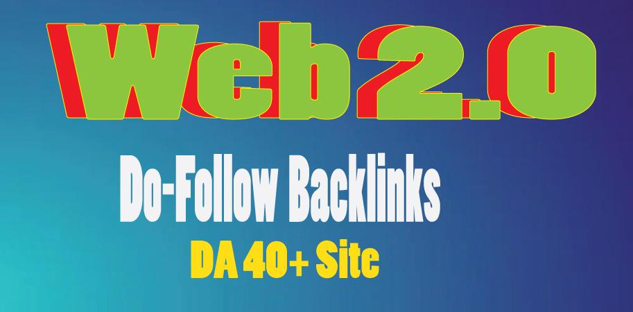 I will create 40 Web 2.0 do-follow back-links on 40+ DA sites