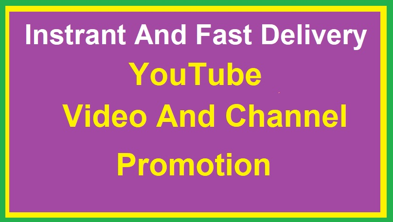 Super Fast YouTube Promotion And Social media marketing