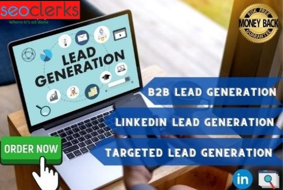 100 targeted b2b lead generation and linkedin lead generation