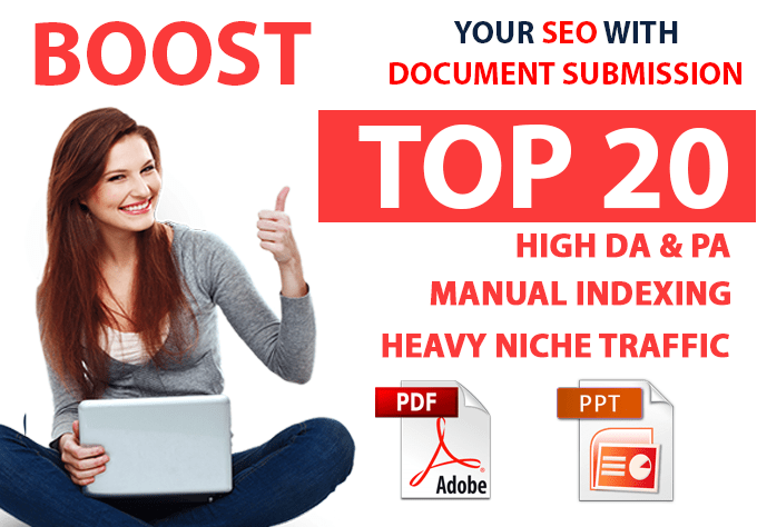 Complete SEO Pack with Manual Link Buildings Get 20 PDF/Document sharing links,  Check for extras