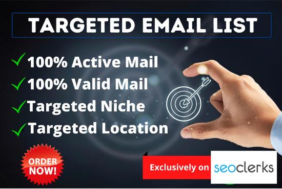 5K Email List for Niche Base Marketing