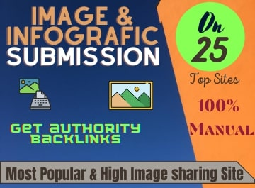 Image and infographic submission services on high PR image sharing sites