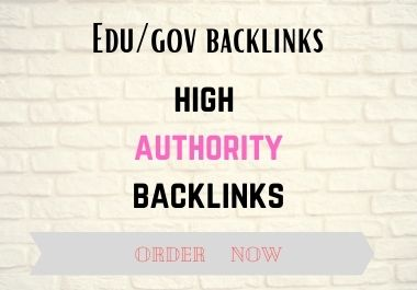 Build Exclusively 20 Edu/GOV high quality backlinks to rank your website