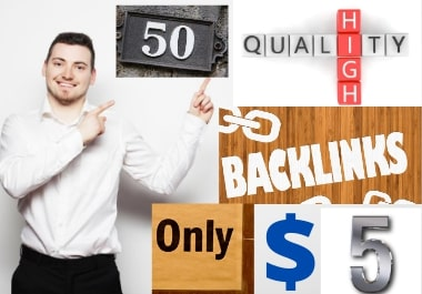 I will do high quality 50 Backlinks high DA/PA and TF /CF for you