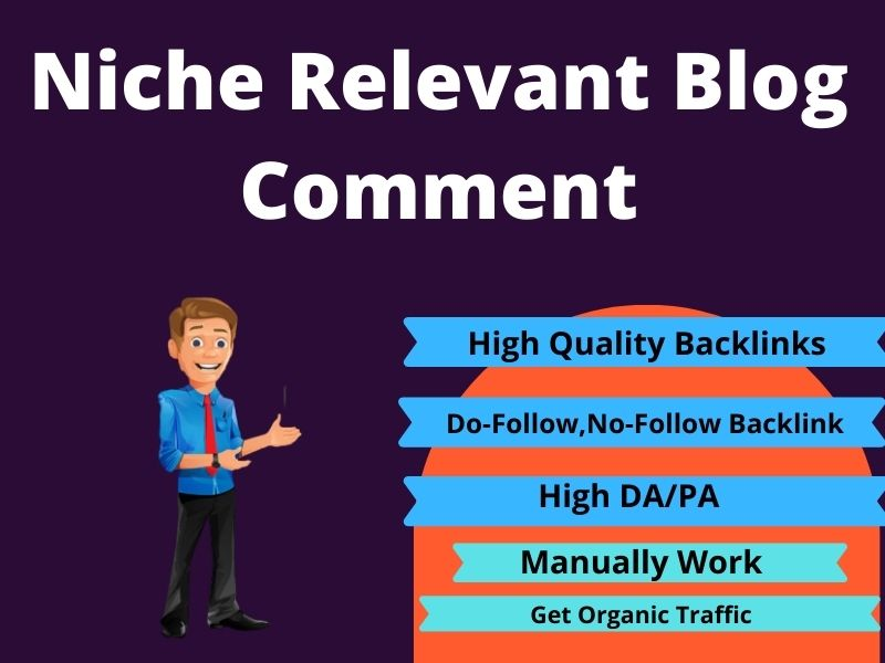 I will niche relevant blog comment backlink