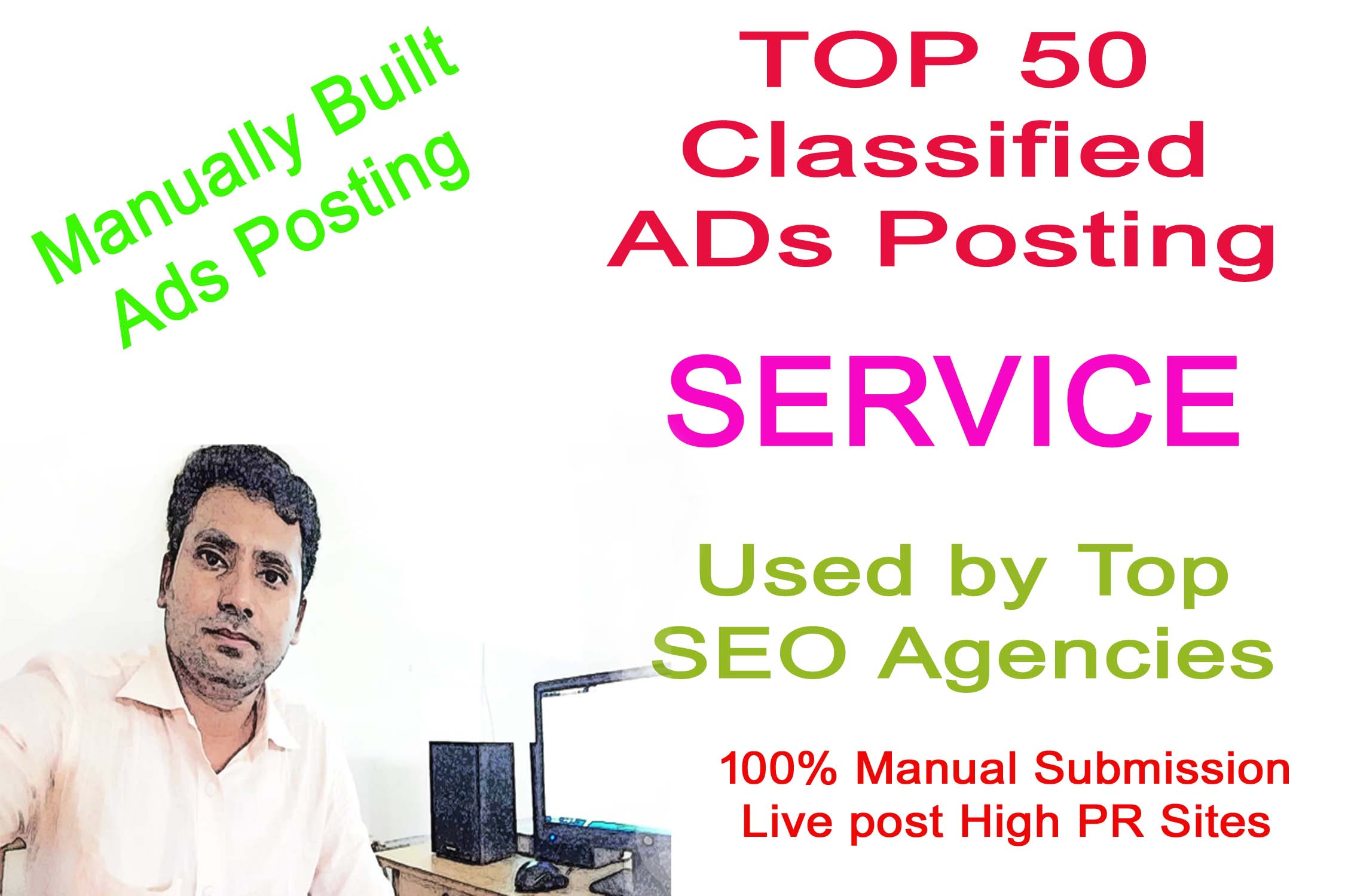 I Will Provide 50 Manual Classified Ads Posting On Top Ad Websites