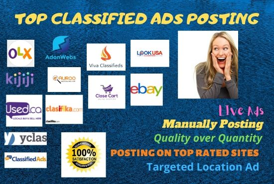 I Will Do 100 High Quality Classified Ad Posting On Top Posting Sites Manually