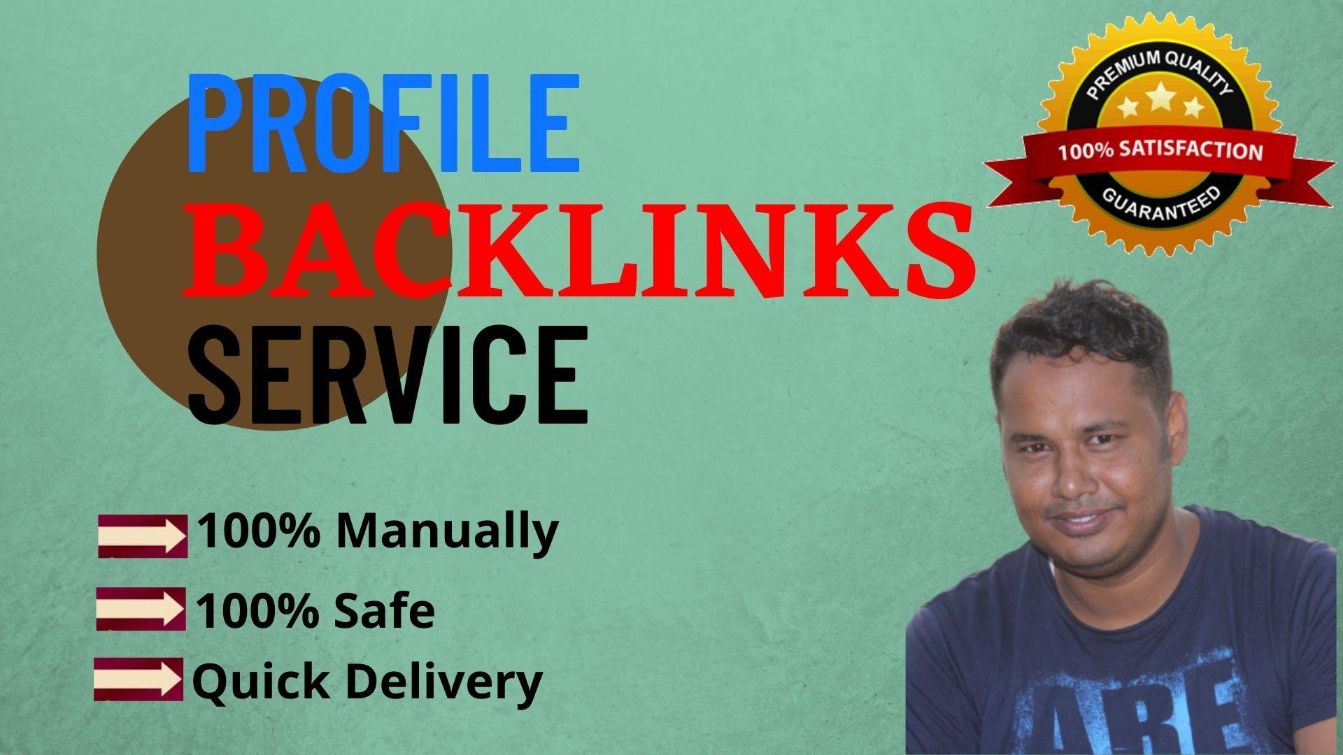 I Will Manually Provide 200 Dofollow Profile Backlinks