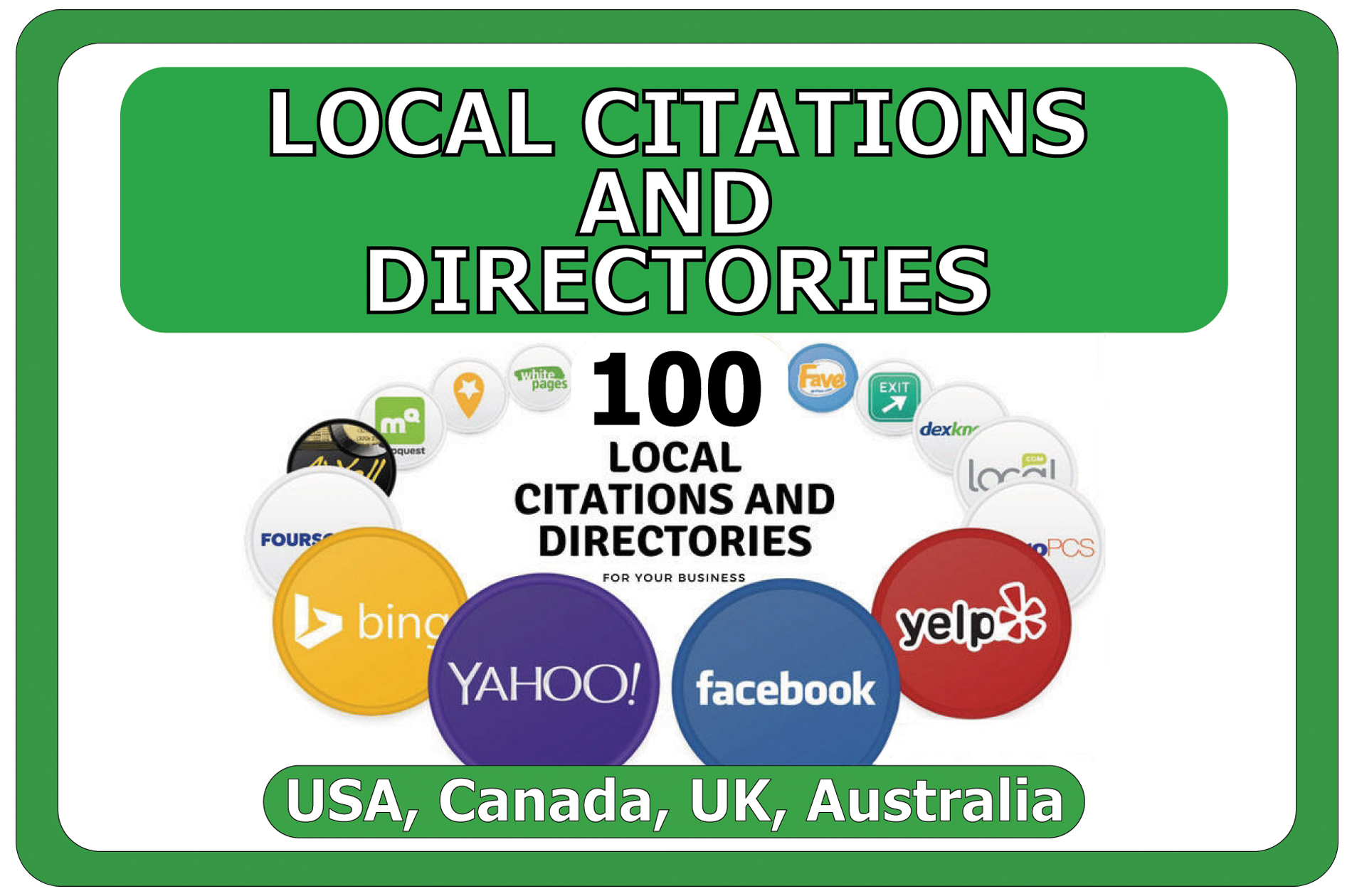 I will Manually Build Top 100 Local SEO Citations or Local Listing
