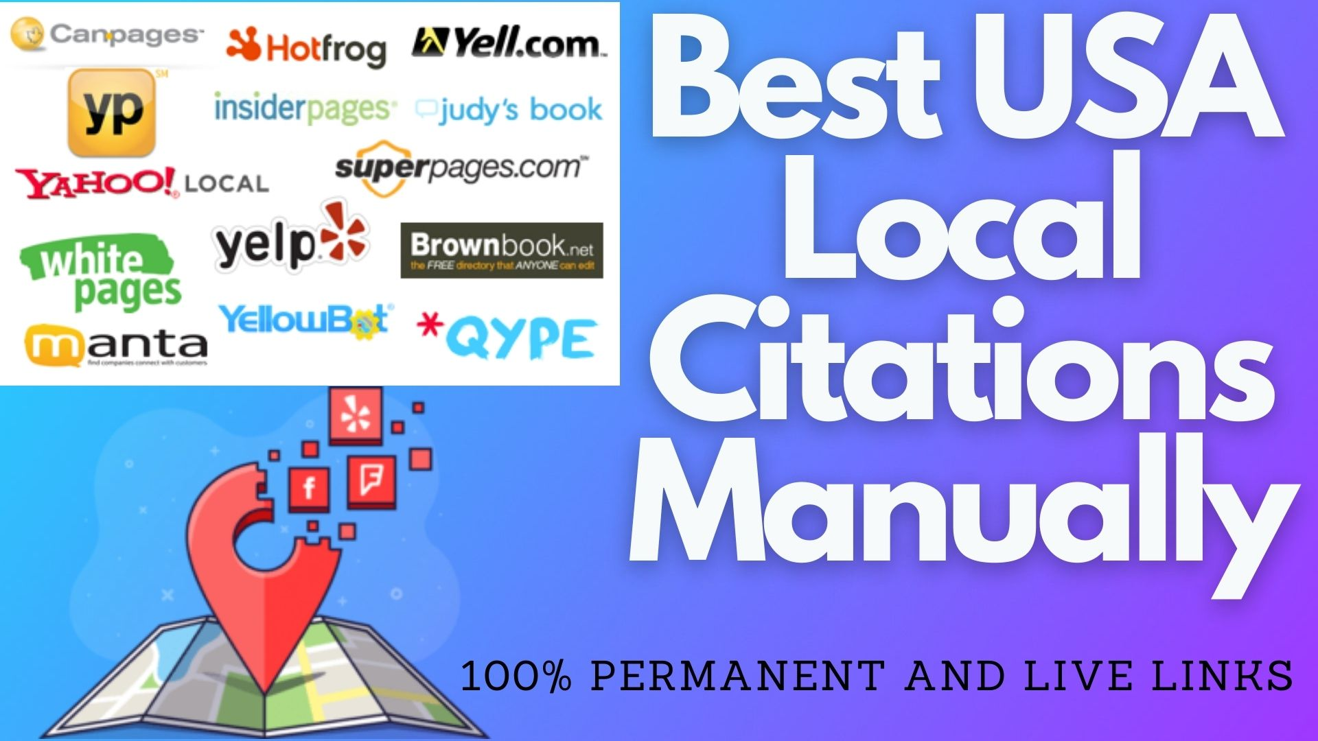 I Will manually post 100 Local Citations on UK/USA Best directories
