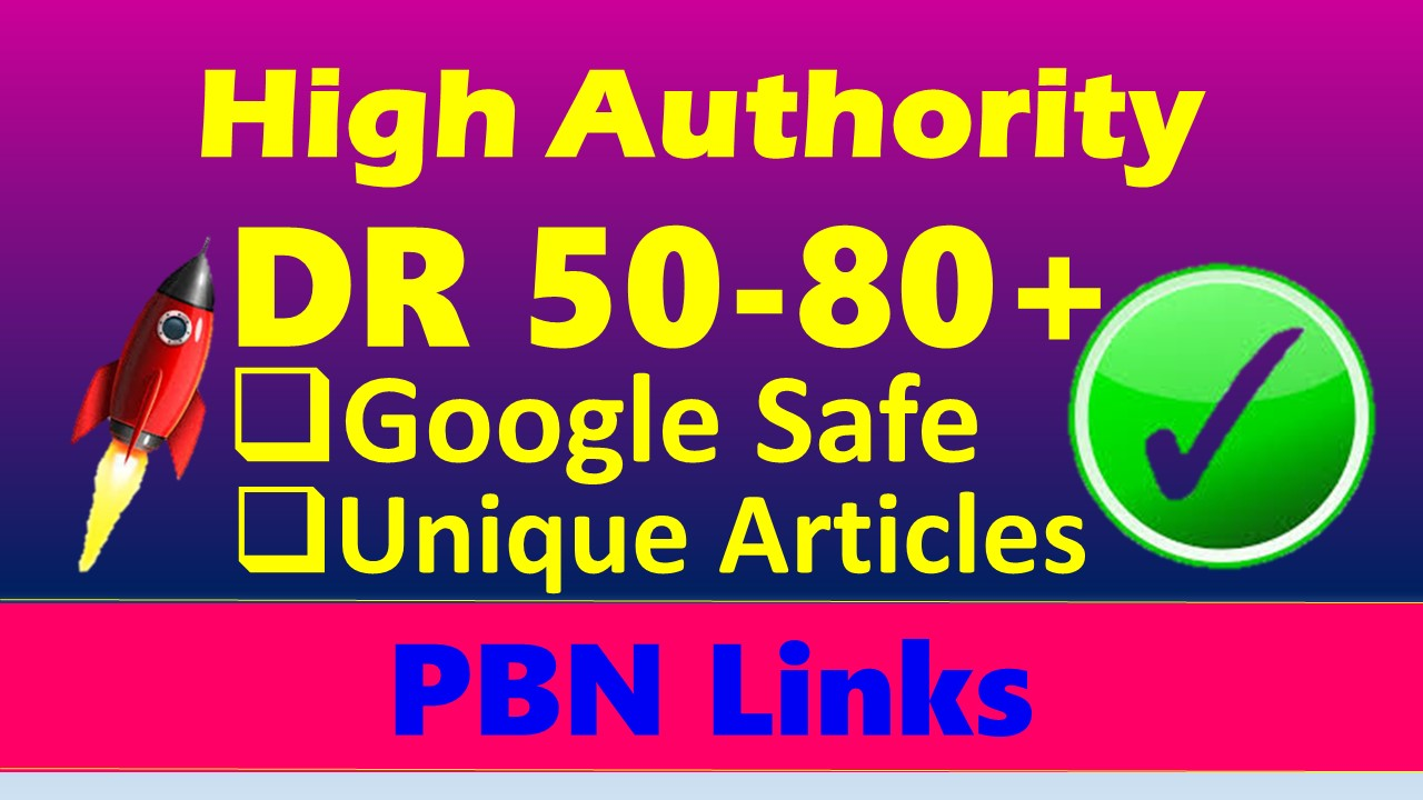 I'll build 15 seo dofollow DR 50 to 70 high quality backlinks