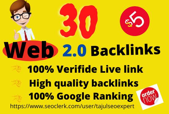 I will manually create HQ super web 2 0 backlinks for google ranking