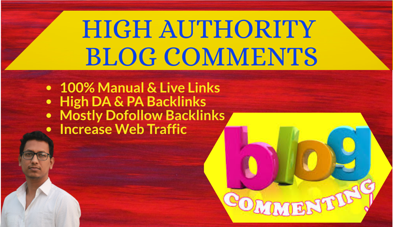 I will do manually 150 High Authority blog comments backlinks