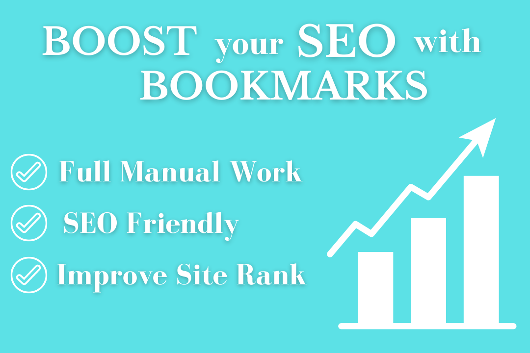 I will manually build 50 social bookmarks submissions