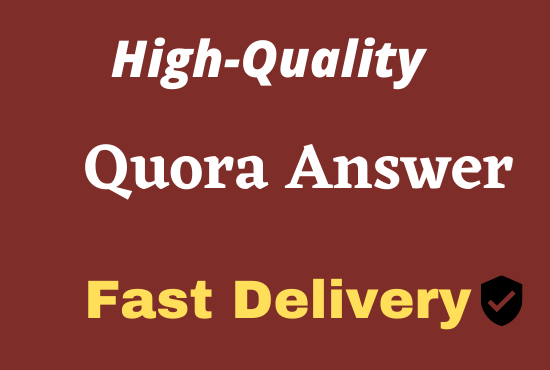 Organic 20 Quora Answer With Website Keyword & URL