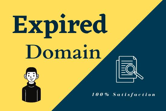 Guaranteed 100 Quality and Niche based high DA PA expired domain.