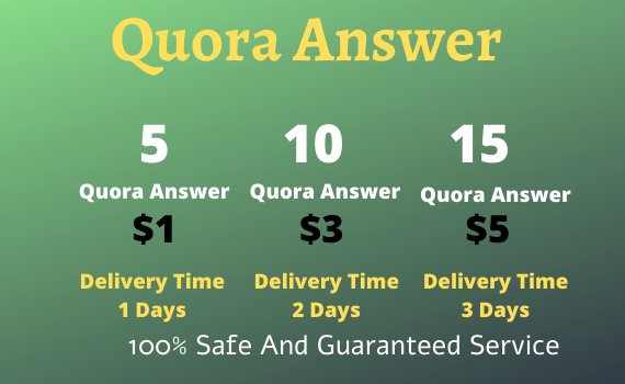 Provide 5 High Quality Quora Answer