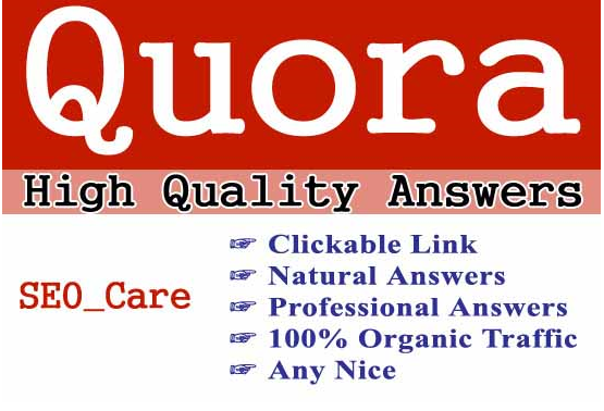 Guaranteed targeted traffic with 45 unique Quora answer
