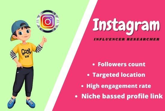 Find top best Instagram influencer according to your niche