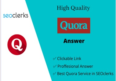 Guaranteed targeted traffic with 7 unique Quora answer