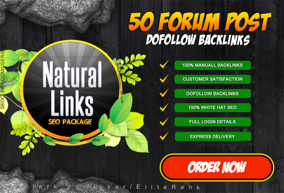 manually do 50 high quality Natural forum posting backlinks