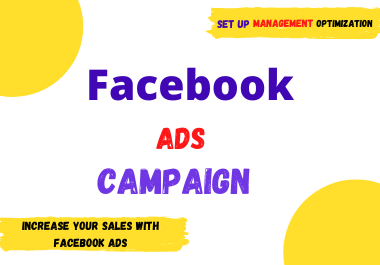 I will be your Facebook ads manager and run your Facebook ads campaign