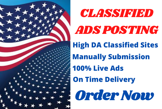 I Will Post Your Ads Manually on 100 Top Classified Ads Sites