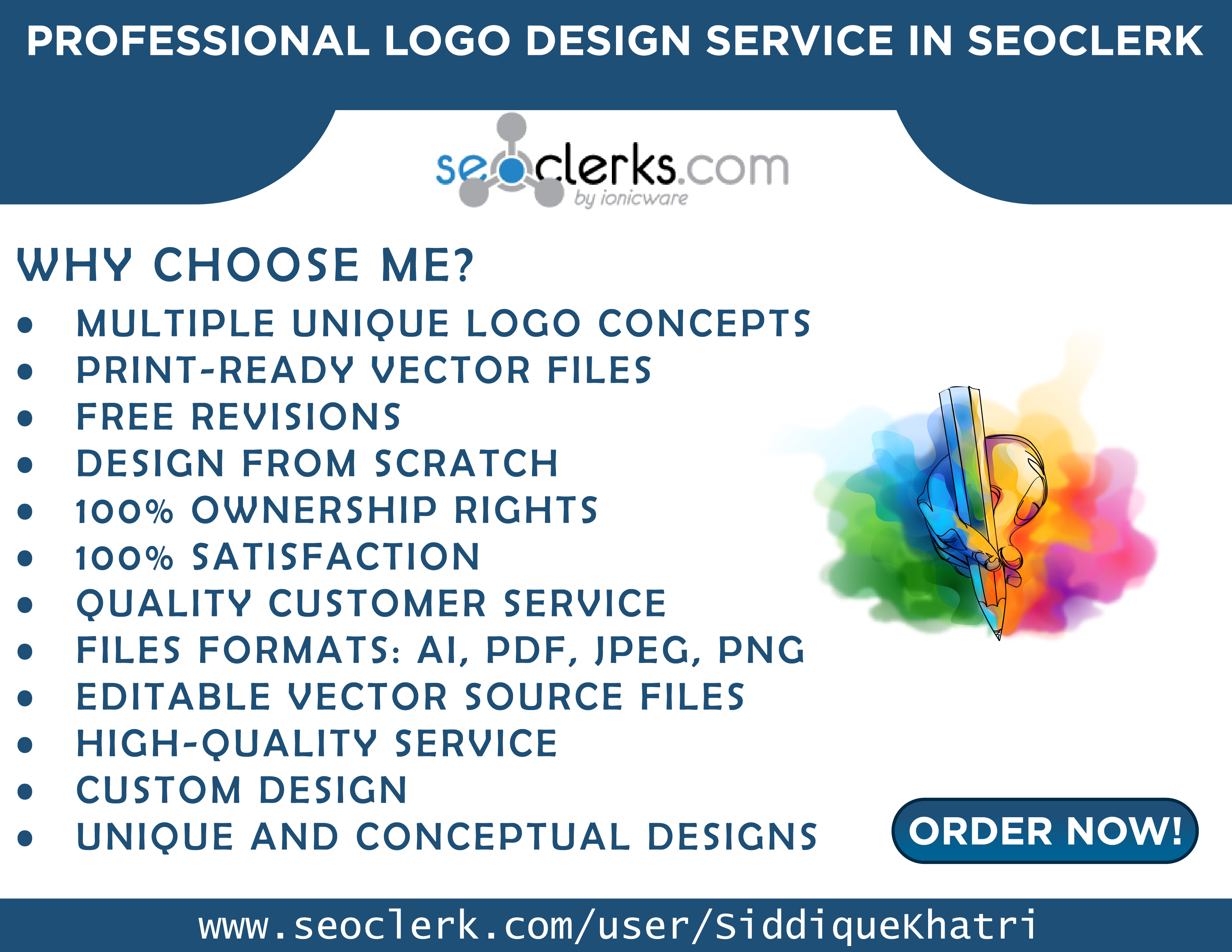 I will be your creative logo designer