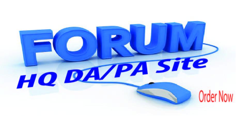 Provide 20 Forum posting SEO Backlinks On High DA/PA sites