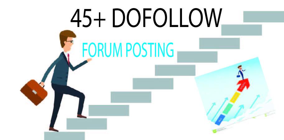 Provide 40 Forum posting SEO Backlinks On High DA/PA sites