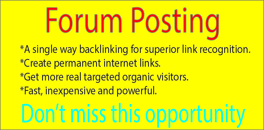 Provide 40 Forum posting SEO Backlinks On High DA/PA sites
