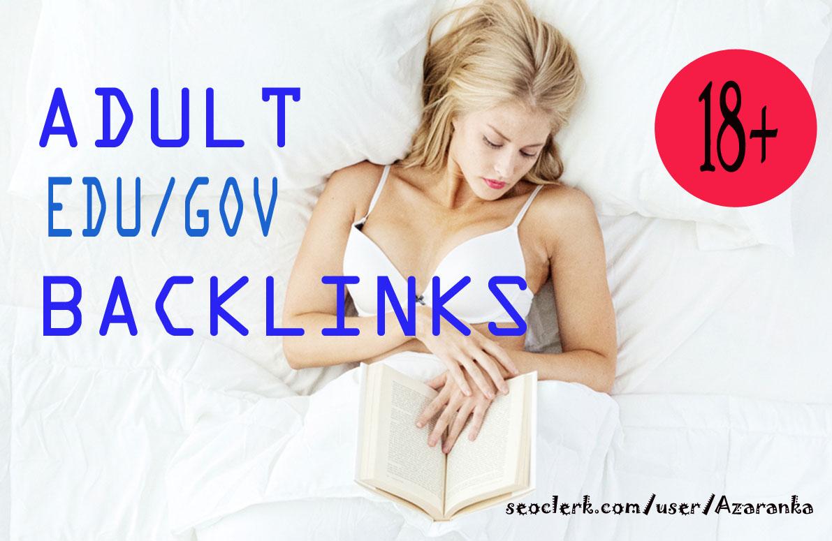 Build 2020 latest unique 250+ HQ edu. gov. link building & backlinks for Adult site