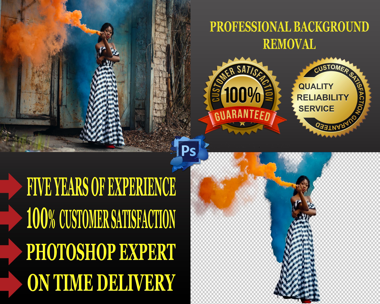 I will do 10 background removing, resizing, retouching job
