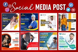 I Will Design Social Media Posts and Content.