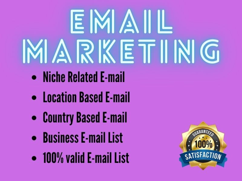 I will Provide 5000 verified Targeted E-mail list