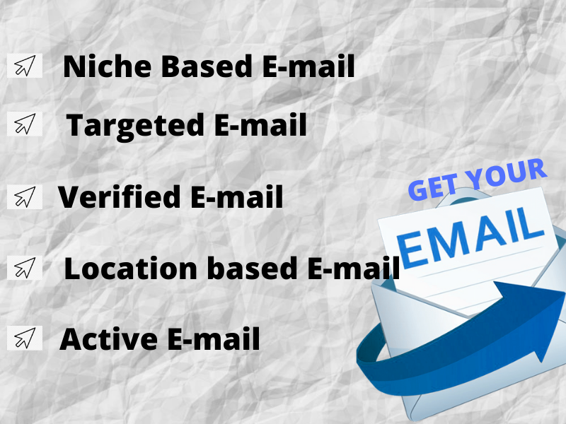 I will provide you 5000 verified niche based targeted E-mail list
