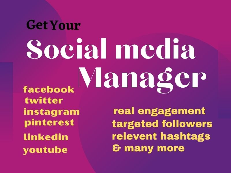 i will create Facebook,twitter,pinterest,LinkedIn,Instagram page and manage it