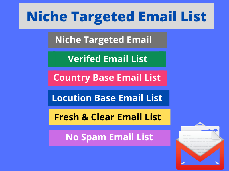 I will give a 500 niche based targeted email list