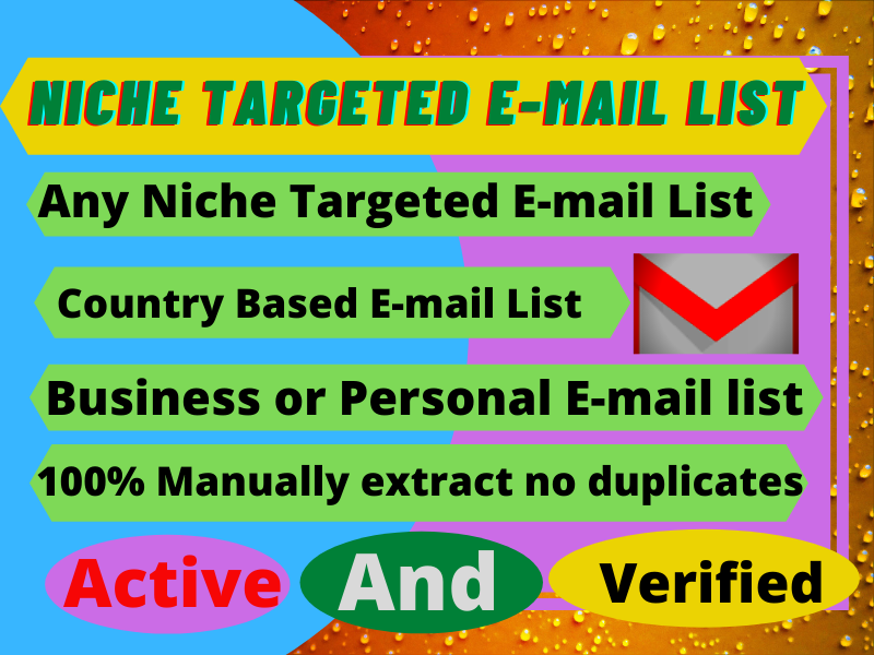 I will provide you country base active niche targeted email list