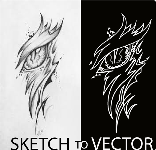 I will draw your image & sketch to vector Ai,pdf etc