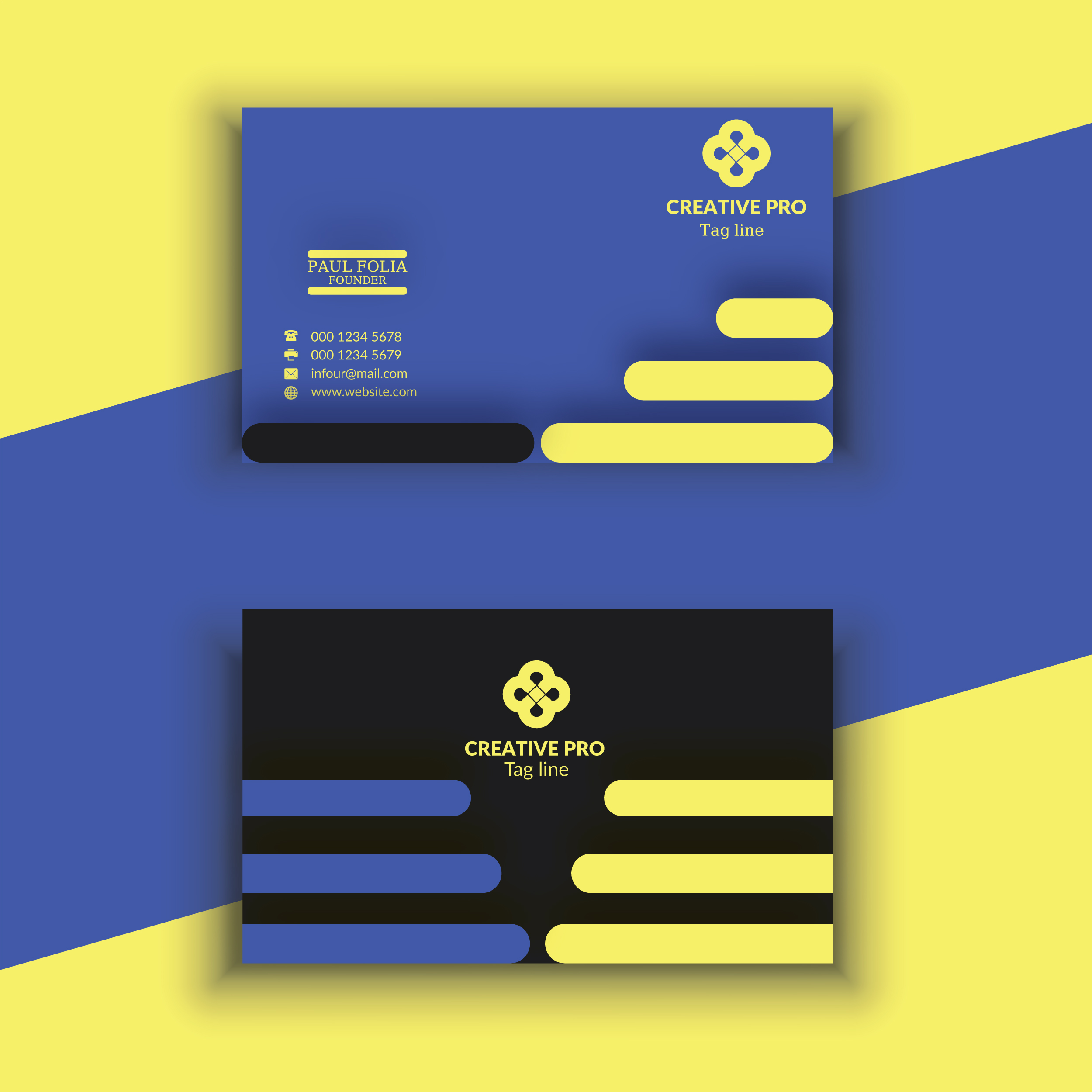 I will do professional & luxury business card