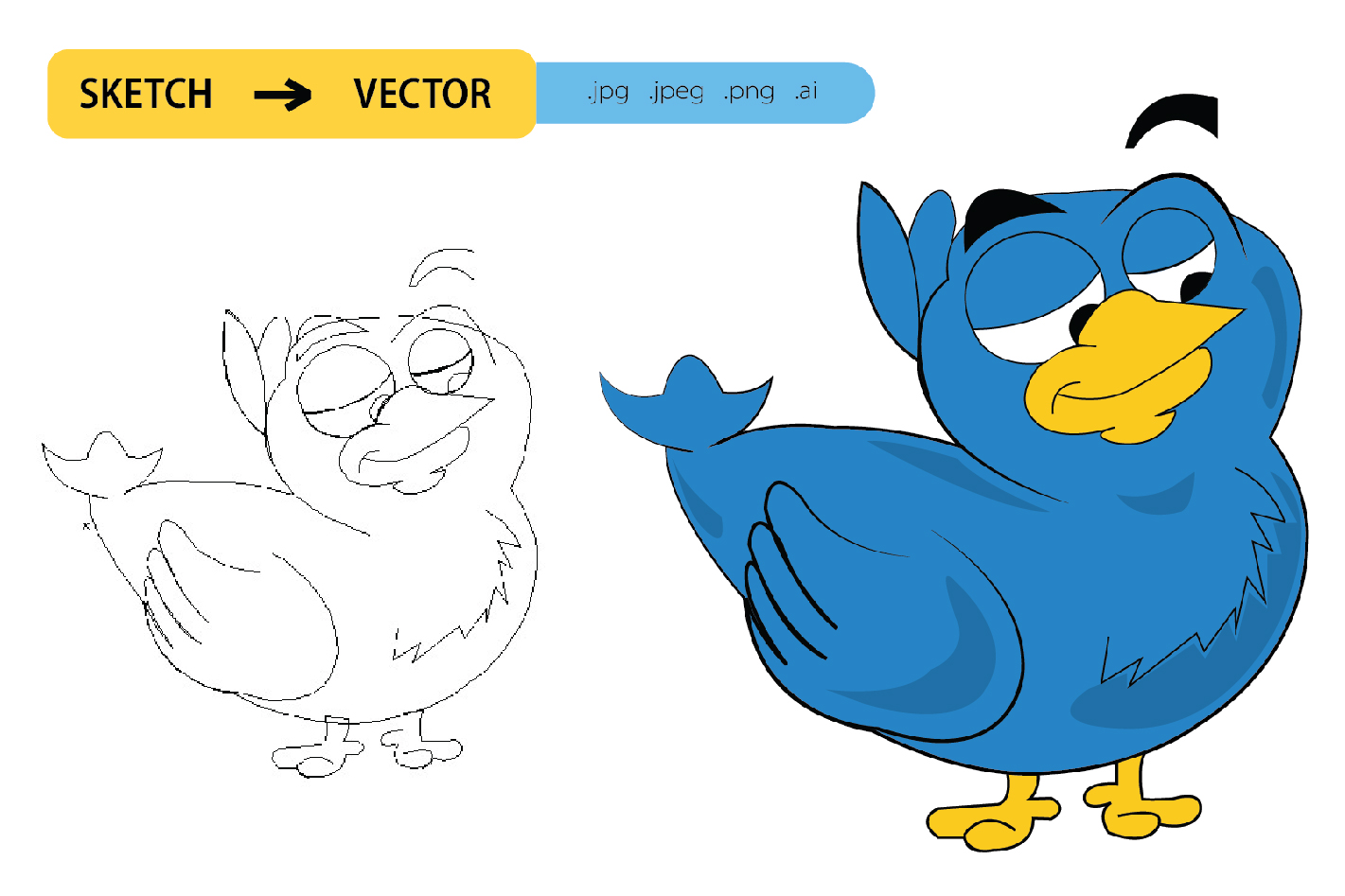 I will do sketch to vector conversion professionally in 24 hour