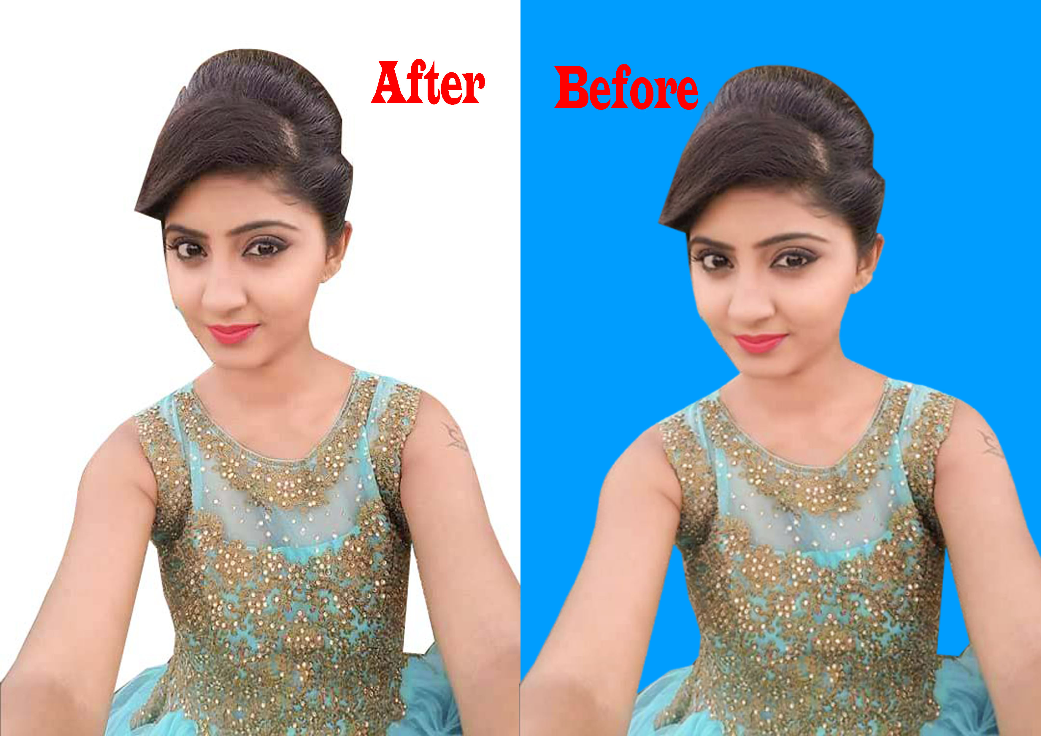 I will professionally remove green screen background from photos