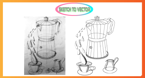 I will convert any sketch or any idea into a vector