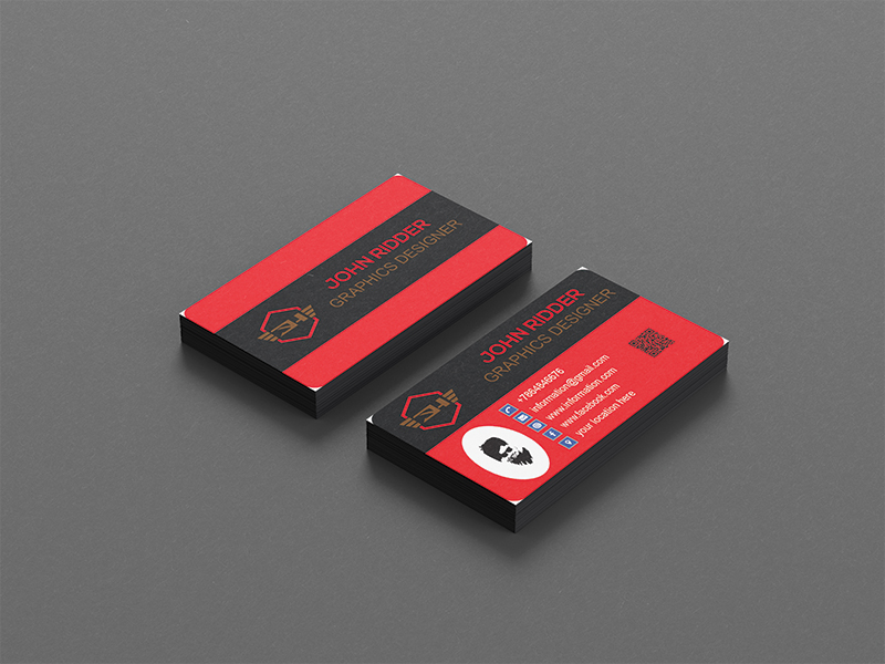 I will do professional modern minimalist business card design