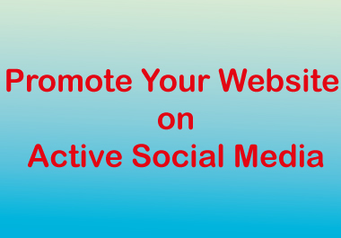 i will promote your website on social media