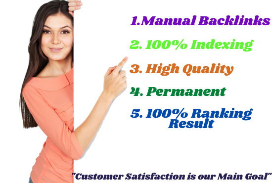 Provide 450+ manual backlinks with white hat seo
