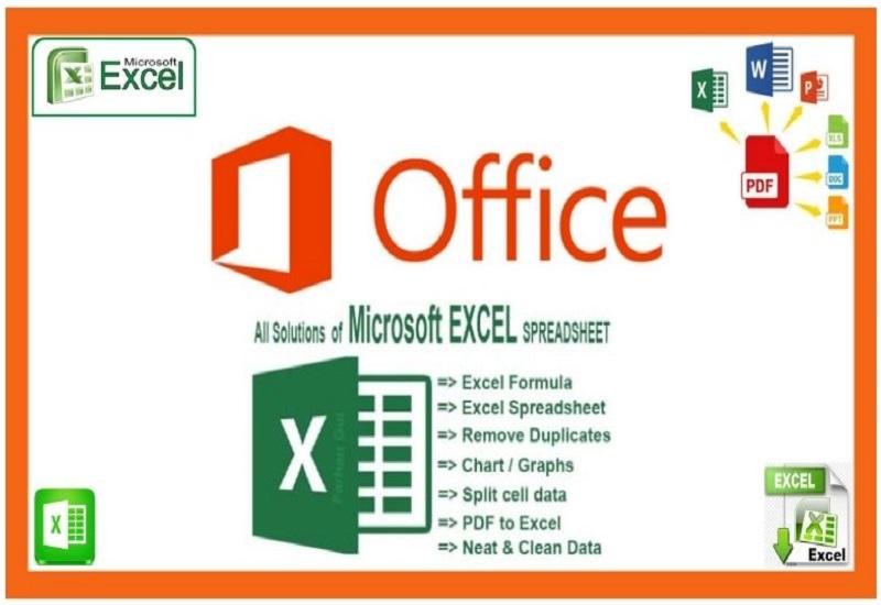 I will do Microsoft office create Microsoft excel spreadsheet data entry,  formula,  graphs & table