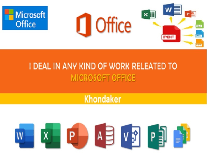 I will do Microsoft office fast typing excel,  word as a personal assistant